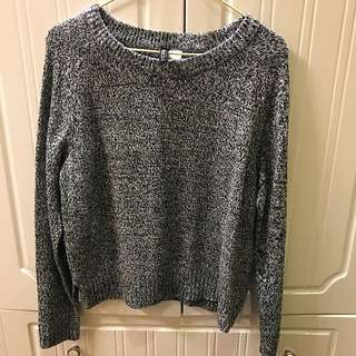 H&M grey knit sweater