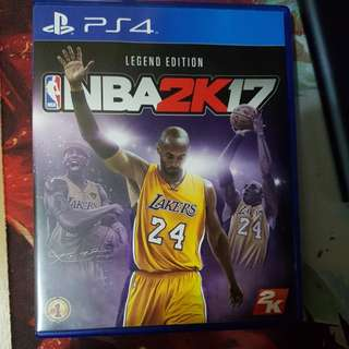 Ps4 game NBA 2k17 kobe special Edition
