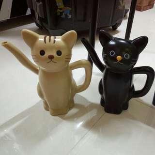 貓貓淋花壺一對