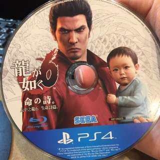 PS4 遊戲片 人中之龍6 二手 中文版