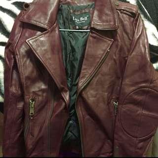 真羊皮biker jacket