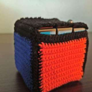 Crochet rubik's cube bag with free 3x3x3