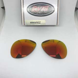 Plaintiff Fire Red POLARIZED DYM Replacement Lenses for Oakley Plaintiff Sunglasses