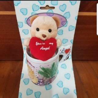 In Stock Gift -  Mug With You're My Angel Bear