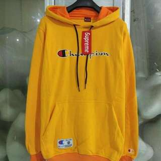 sweater hody yellow champion