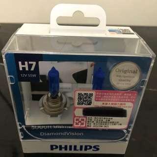 PHILIPS 飛利浦 大燈/頭燈  H7規格 色溫5000K 功率12V 55W 2入