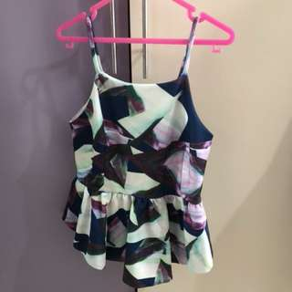 Peplum abstract top