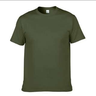 PREMIUM COTTON PLAIN T-SHIRT IN ARMY GREEN