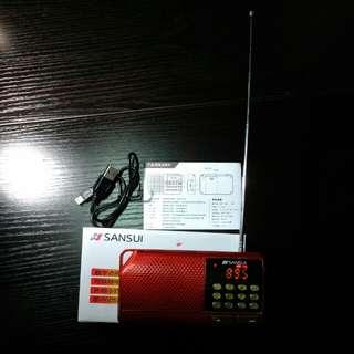 山水收音機連電筒radio,usb,另可以插咭播歌曲sansui