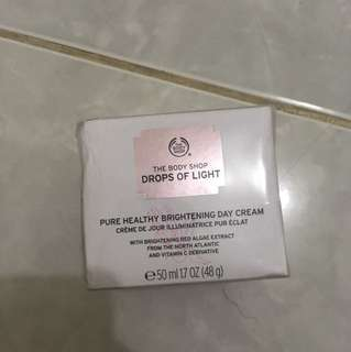 BNIB Body Shop drops of light daycream