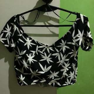 H&M Black Floral Top