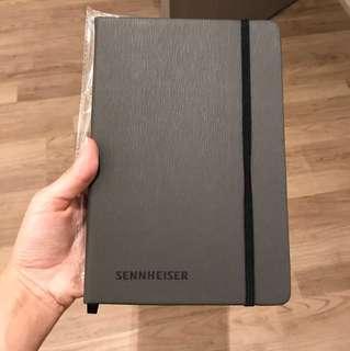 Sennheiser black notebook / memo pad