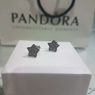 Pandora star pave earrings