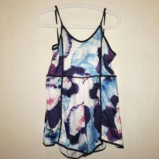 Watercolour/Floral Romper