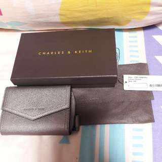 Charles & Keith Pewter Wallet