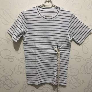 Stripes Slit T-Shirt