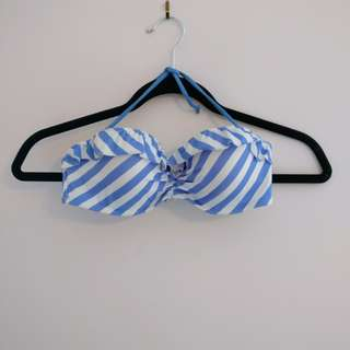 Victoria Secret Stripped Bikini Top w/ Ruffles | 34B