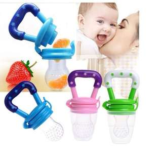 6 Months+ Feeding Pacifier Baby Fresh Food Fruits Soup Feeder Bite Bag Dummy