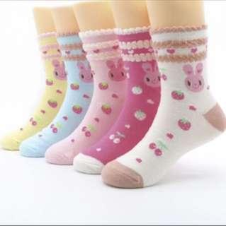 2 Sets for $6. Cutie Bunnies Sock.