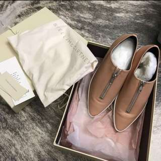 BRAND NEW Stella Mccartney nude zip up flats sneakers sz 36