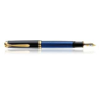 Souverän® Black-Blue Fountain pen (M400) 14 Carat Gold Nib