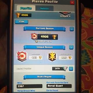 Wts lvl 13 Clash Royale Account