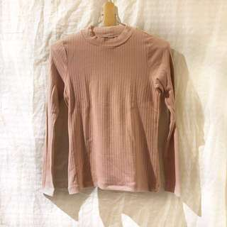 Uniqlo ribbed millennial pink sweater