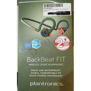 Plantronics BackBeat FIT wireless Sports Headphones STEALTH GREEN