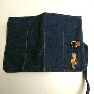 貓貓牛仔布袋 / 筆袋 / 餐具袋