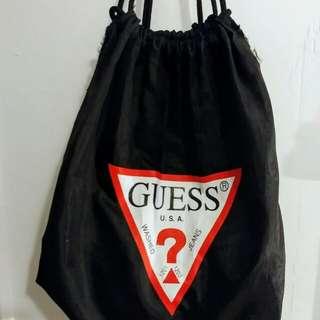 Guess Logo Drawstring Bag