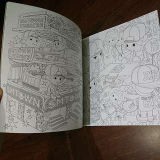 EXO A DAY IN EXO PLANET COLORING BOOK 官方著色本