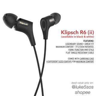 Klipsch R6 (ii) [Black/White]