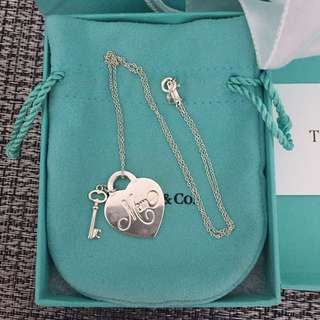 Tiffany & Co. Mom heart tag with key pendant in sterling silver