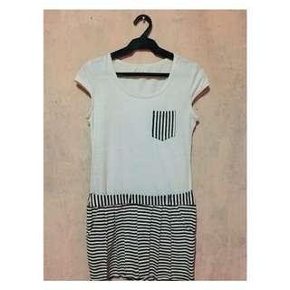 White Stripe Dress