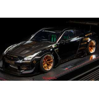 全新 1:18 Make Up Rocket Bunny R35 GTR Carbon Hood Black IM003B4