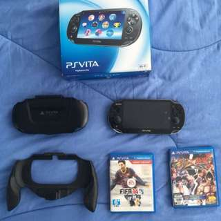 Ps Vita 1k with all the accessories n games