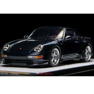 全新 1:43 Make Up Porsche 911 (933) Carrera RS 1995 Midnight Blue Metallic VM117E