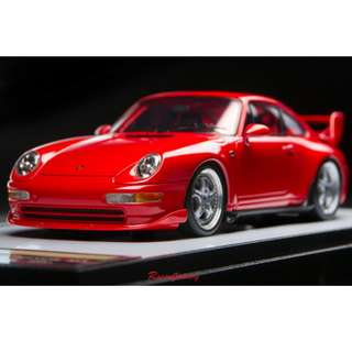 全新 1:43 Make Up Porsche 911 (933) Carrera RS Clubsports 1995 Guards Red VM118C