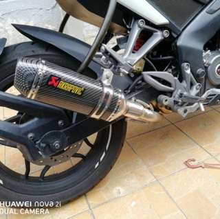 Bajaj Ns/rs200 Akrapovic Replica Exhaust Ekzos