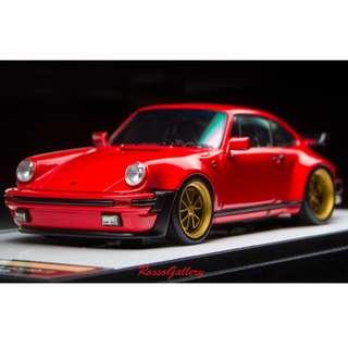 全新 1:43 Make Up Porsche 911(930)Turbo 3.3 1988 52 wheel ver. Red VM115C1