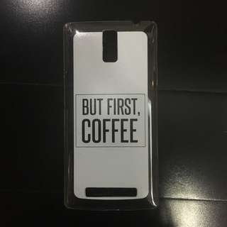 """Jual Kasing Oppo Find 7 """"BUT FIRST COFFEE"""""""