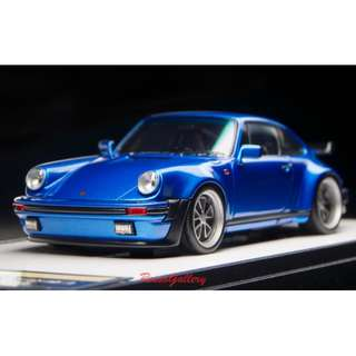 全新 1:43 Make Up Porsche 911(930)Turbo 3.3 1988 52 wheel ver. Metallic Blue