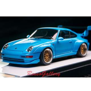 全新 1:43 Make Up Porsche 911(993)GT2 Option Equipment 1996 Blue VM116B