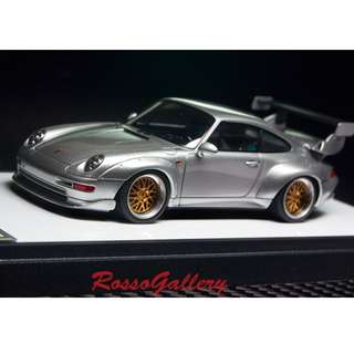 全新 1:43 Make Up Porsche 911(993)GT2 Option Equipment 1996 Silver VM116F