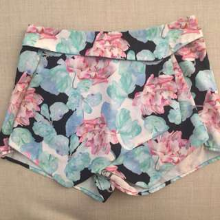 Floral skort (short and skirt)