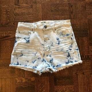 Garage Tie Dye High Waisted Shorts