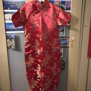 Girl Cheongsam - Red (big cutting) #15off