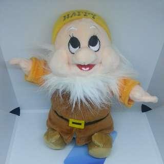 """Brand New 8"""" Disney Dwarf Happy Figurine Plush Stuffed Soft Toy Beanbag"""