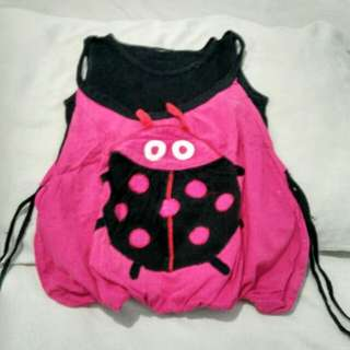 Atasan lady bug pink