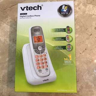 Vtech 白色數碼無缐電話 white digital cordless phone - read detail